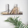 This item: Fran Black Suspension Bridge Wall Shelf