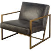 This item: Armelle I Black and Gold Leather Arm Chair