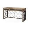 This item: Eldorado III Brown Three Drawer Glass Lined Cross Hatch Desk