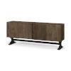 This item: Hollingworth Brown Solid Wood Four Door Sideboard