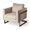 This item: Rupert Cream and Gold Arm Chair