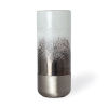 This item: Baltic I White and Brushed Silver Glass Vase