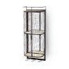 This item: Saluti I Black Wall Shelf with Two Shelf and Storage