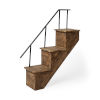 This item: Page Brown Stairway Wall Shelf
