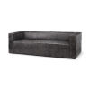 This item: Stinson II Gray Leather Wrapped Three Seater Sofa