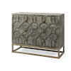 This item: Genevieve I Brown and Brass Solid Wood Three Drawer Cabinet