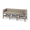 This item: Bergen Brown and Beige Wooden Frame Accent Bench