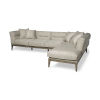 This item: Denali III Cream Upholstered Right Four Seater Sectional Sofa