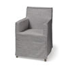This item: Elbert II Gray and Brown Slip-Cover Parson Dining Chair