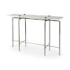 This item: Pinera III White and Brass Marble Top Console Table