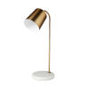 This item: Sanderson Gold and White Marble One-Light Table Lamp