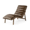 This item: Pierre Whiskey Leather Armless Chaise Lounge Chair