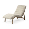 This item: Pierre Cream Leather Armless Chaise Lounge Chair