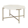 This item: Vincent I Espresso and White Hexagonal Marble Top Coffee Table