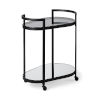 This item: Eleonore Black Two-Tier Bar Cart