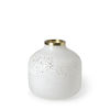 This item: Pearl White and Gold 8-Inch Ceramic Vase