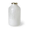 This item: Pearl White and Gold 13-Inch Ceramic Vase