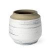 This item: Sonnett White and Blue 9-Inch Ceramic Vase