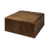 This item: Minara II Brown Leather Wrapped Ottoman