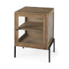 This item: Arelius Light Brown and Black End Table