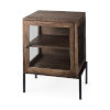 This item: Arelius Medium Brown and Black End Table