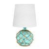 This item: Marigold Aqua White One-Light Table Lamp