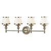 This item: Wellington Brushed Nickel Four-Light Vanity