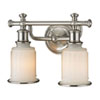 This item: Evelyn Brushed Nickel Two-Light Vanity