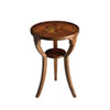 This item: Evelyn Olive Ash Burl Round Accent Table