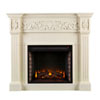 This item: Evelyn Ivory Carved Electric Fireplace