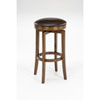 This item: Wellington Brown Cherry Wood Backless Swivel Counter Stool