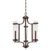 This item: Whittier Rubbed Bronze Three-Light Chandelier
