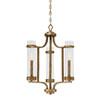 This item: Whittier Antique Gold Three-Light Chandelier