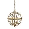 This item: Afton Antique Gold Three-Light Globe Pendant