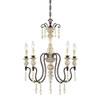 This item: Wellington Antique White and Bronze Five-Light Chandelier