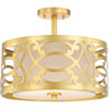 This item: Whittier Natural Brass 15-Inch Two-Light Semi Flush Mount