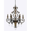 This item: Wellington Bronze 28-Inch Six-Light Chandelier