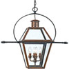 This item: Webster Aged Copper Four-Light Outdoor Pendant