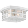 This item: Grace White Two-Light Outdoor Flush Mount