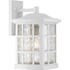 This item: Grace White 16-Inch One-Light Outdoor Wall Sconce