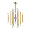This item: Nicollet Natural Brass 24-Light Chandelier