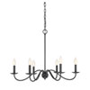 This item: Evelyn Aged Iron Six-Light Chandelier
