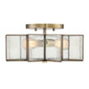 This item: Kenwood Natural Brass Two-Light Star Semi Flush Mount