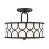 This item: Selby Oil Rubbed Bronze Two-Light Semi Flush Mount Drum