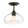 This item: Nicollet Oil Rubbed Bronze 11-Inch One-Light Semi Flush Mount