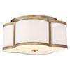 This item: Whittier Quatrefoil  Natural Brass Three-Light Flush Mount