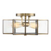 This item: Kenwood Natural Brass 16-Inch Two-Light Semi Flush Mount