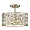 This item: Vivian Silver Gold Two-Light Semi Flush Mount with Crystal Accents