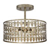 This item: Whittier Antique Gold Three-Light Semi Flush Mount Drum