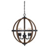 This item: River Station Wood and Black Five-Light Chandelier